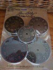 Tim Holtz idea-ology Timepieces 5 pieces Clock Advantus Craft Vintage TH92831