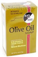 Black and White Botanical Face & Body Olive Oil Soap