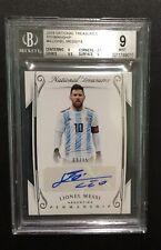 "Lionel Messi 2018 National Treasures Penmanship #4. Numbered ""09/15"". Argentina"