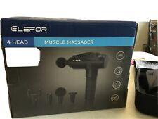 New listing Elefor Kinetics Pulse Massage Gun Portable Electric Cordless Design Full Body 6
