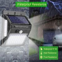 100 LED Solar Power Light PIR Motion Sensor Security Outdoor Garden Wall Lamp IR