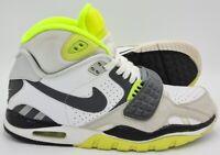 Nike Air Trainer SC II Leather Trainers 443575-102 White/Grey/Green UK7/US8/EU41