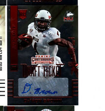 2015 Panini Contenders Football Draft Ticket Autographed Card Of Da'Ron Brown