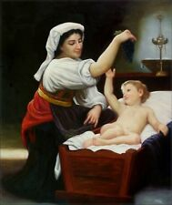 Quality Hand Painted Oil Painting Repro Bouguereau The Grapes 20x24in