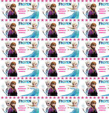 Frozen Style Birthday Wrapping Paper Personalised With Own Name Any age!