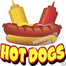 Hot Dogs Decal 14 Restaurant Cart Concession Trailer Food Truck Vinyl Sticker