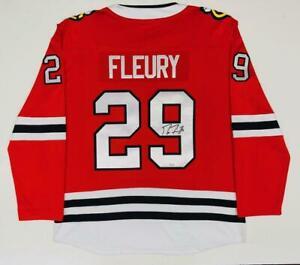 MARC-ANDRE FLEURY Autographed Chicago Blackhawks Red Jersey FANATICS