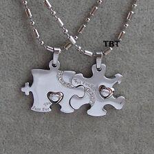doppio Puzzle Acciaio-Stainless Steel-Coppia Ciondoli collana uomo e donna SS/21