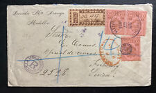 1893 Medellin Colombia Registered Cover To Fribourg Switzerland Via London