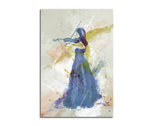 90x60cm PAUL SINUS Splash Art Gemälde Kunstbild Violine Player I