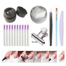 Lady Professional Fiberglass Nail Kit Manicure Tweezer Nail Scraper Pen Set Tool
