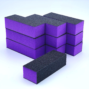 Purple Buffer Blocks Nail Polish removal File Board grit Buffing Block Nail Prep