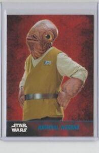 Star Wars The Force Awakens Series 1 Trading Card Blue Admiral Ackbar #28