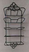 Wall Mount Metal Wine Rack, 10 Bottle Holder Storage Iron Display Black