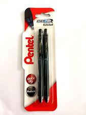 Pentel EnerGel-Gel Retráctil XBL107/2-A Rodillo De Tinta Bolígrafo Negro 0.7 mm (2 x bolígrafos)