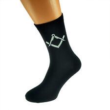 Plata Masónica no G Diseño Calcetines para hombre Negro Adulto Tamaño UK 5-12 - X6N341