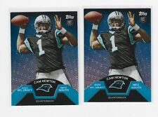 2011 Topps Cam Newton TMB-1 Refractor Rookie (2) Card Lot New England Patriots