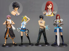 4pcs Fairy Tail SC Lucy Gray Erza Scarlet Etherious Natsu Dragneel Figurine