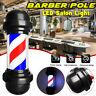 "20"" Barber Pole LED Light Red White Blue Stripes Rotating Hair Salon Shop"