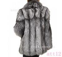 Womens Fox Fur Coat Lapel Collar Mid Long Jacket Fit Warm Overcoat Outwear 2018