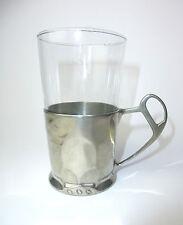 Jugendstil Teeglashalter mit Glas Kayserzinn um 1900  B-5568