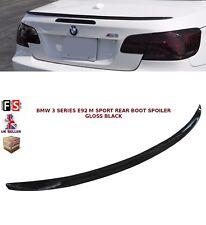 BMW 3 SERIES E92 MSPORT 05+ REAR BOOT TRUNK SPOILER LIP M3 STYLE GLOSS BLACK