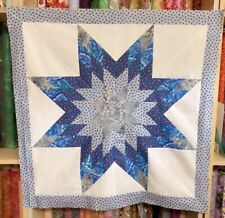 Lone Star Patchwork lap Quilt Top# Ls-015 Made in U S A