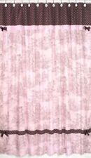 PINK BROWN TOILE FRENCH COUNTRY BATH FABRIC SHOWER CURTAIN SWEET JOJO DESIGNS