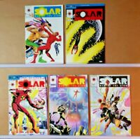 Solar Man of the Atom #'s 11, 12, 13, 14 & 15  Valiant Comics   VF+/NM  (D684)
