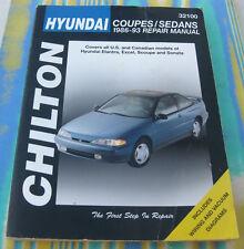 CHILTON'S WORKSHOP MANUAL #32100 HYUNDAI COUPES SEDANS - ELANTRA SONATA 86 - 93