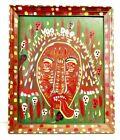"Rare & Unique Outsider Artist Benny Carter Folk Art Painting On Board ""VOODOO"""