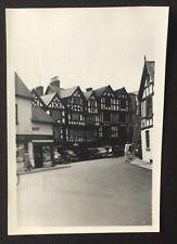PHOTOGRAPH Street View LUDLOW 1958 Shropshire 8cm x 6cm Bull Ring LADDER 1365