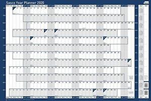 Sasco 2020 original unmounted poster year wall planner A1 calendar organiser YPU