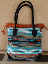Monterey Tote Bag OPMONT-L3 Handwoven Southwestern Southwest  Bag with closure