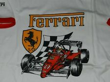 "RARE 80's NOS  Ferrari F1 Formula 1  #27 Made in Italy T Shirt  18""X30"" Ringer"