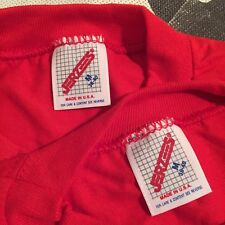 Vintage JERZEES BLANK T-SHIRT lot of 2 M Made in USA NOS DEADSTOCK Single Stitch