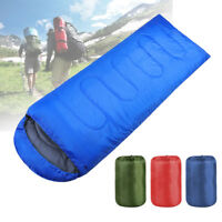 Ultralight Adult Single Envelope Sleeping Bag Camping Hiking w/ Carrying Bag