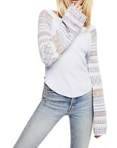 Free People Damen Fairground Thermal Farbe: Sky Bnwts