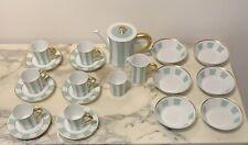 Service à cafe porcelaine limoges bernardaud Galerie Royale Amande
