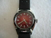 NOS NEW VINTAGE SWISS WATER RESIST MECHANICAL DATE BOREL DIVERS WATCH 1960'S