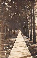B18/ York Nebraska Ne Real Photo RPPC Postcard c1910 8th Street Sidewalk Homes