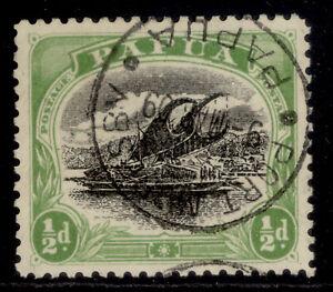 AUSTRALIA - Papua EDVII SG59, ½d black & yellow-green, FINE USED.
