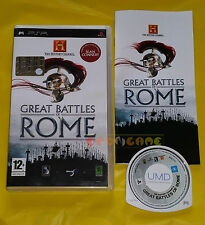 THE GREAT BATTLES OF ROME - Sony PSP - Versione Italiana ○○ COMPLETO - AT