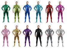 Men's Skin-Tight Dancewear Metallic lycra Unitard Zentai Suit--Wholesale Price!