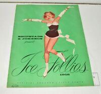 1958 Ice Follies Official Souvenir Program Skating Dance Program Capades Show