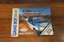 NOTICE CLIO RENAULT SPORT V6  : TOP GEAR RALLY 2      ----- pour GAME BOY COLOR