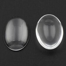 10//25//50//100 Stück Glas Cabochon Transparent Rund Klar 10 mm Basteln Halbkugel