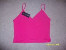Ladies Pink Cropped Top Size 18 from New Look