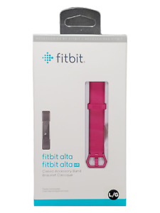 NEW Genuine Fitbit Alta & Alta HR Classic Accessory Band Fuschia Sz L