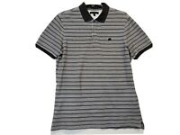 Mens Banana Republic Polo Shirt Large Short sleeve Striped Cotton Size Large